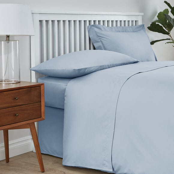 Easycare Cotton 180 Thread Count Flat Sheet Powder Blue undefined