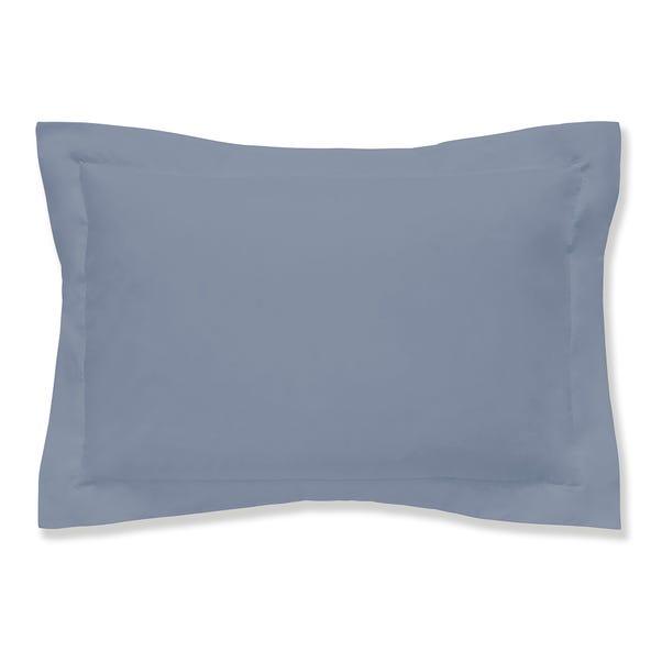 Easycare 100% Cotton Powder Blue Oxford Pillowcase