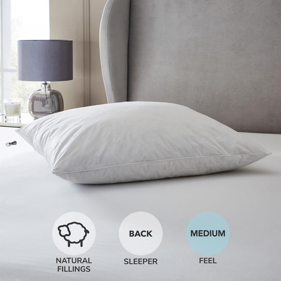 Hotel Duck Down Square Pillow White