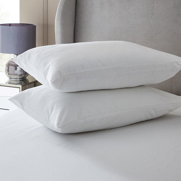 Hotel Downproof Pillow Protector Pair White