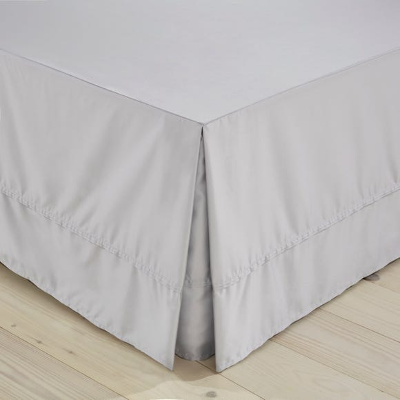 Dorma 500 Thread Count 100% Cotton Sateen Silver Valance  undefined