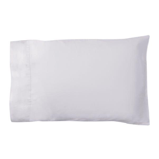 Dorma 500 Thread Count 100% Cotton Sateen Silver Cuffed Pillowcase Silver