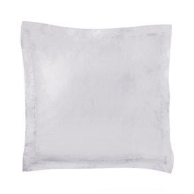Dorma 500 Thread Count 100% Cotton Sateen Silver Continental Square Pillowcase