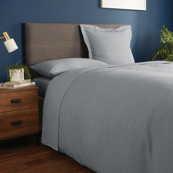 Fogarty Soft Touch Flat Sheet Grey Marl undefined