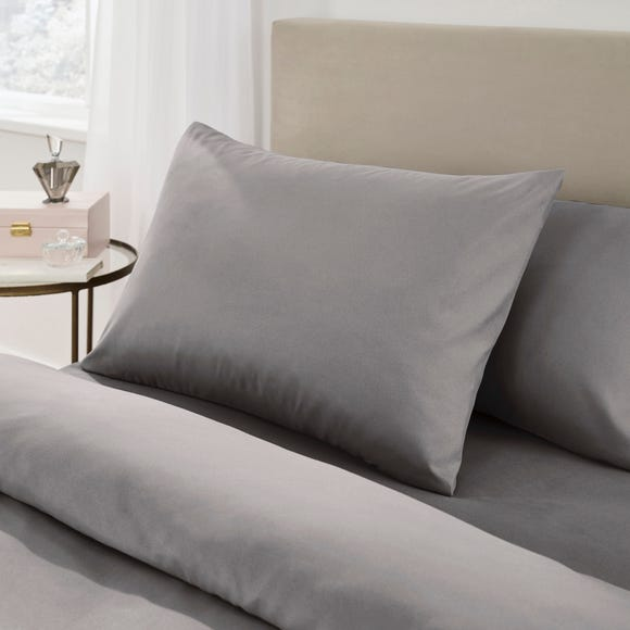 Fogarty Soft Touch Grey Marl Housewife Pillowcase Pair