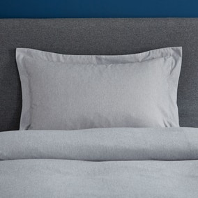 Fogarty Soft Touch Grey Marl Oxford Pillowcase