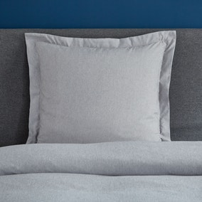 Fogarty Soft Touch Grey Marl Continental Square Pillowcase