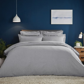 Fogarty Soft Touch Grey Marl Duvet Cover and Pillowcase Set