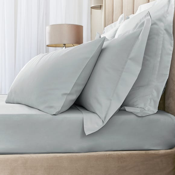 Hotel Egyptian Cotton 230 Thread Count Sateen Fitted Sheet Silver undefined