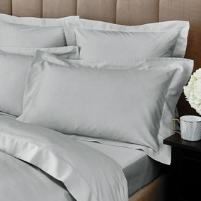 Hotel Egyptian Cotton 230 Thread Count Sateen Silver Oxford Pillowcase