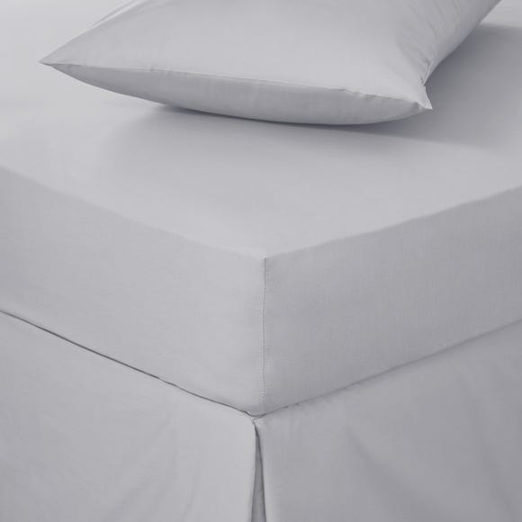 Easycare Cotton 180 Thread Count Fitted Sheet Silver undefined