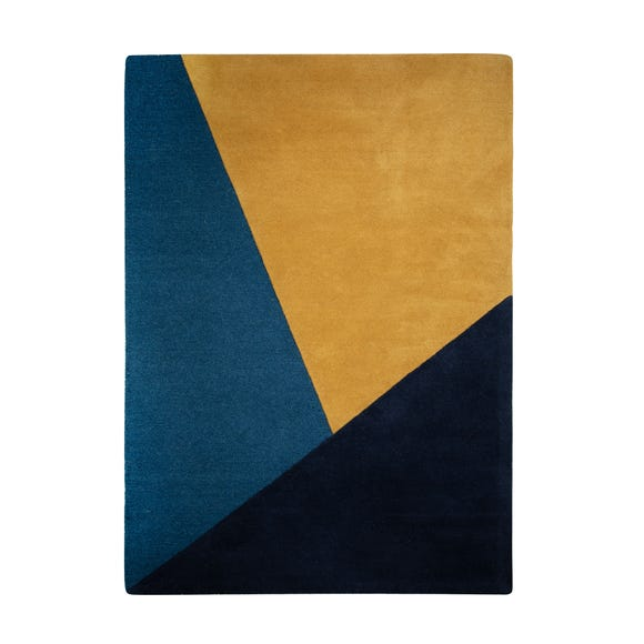 Colour Block Wool Rug  undefined