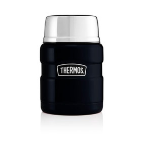 Thermos Stainless King 470ml Black Food Flask