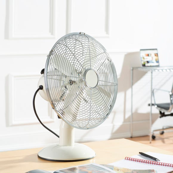 Cream 12 Inch Desk Fan Cream