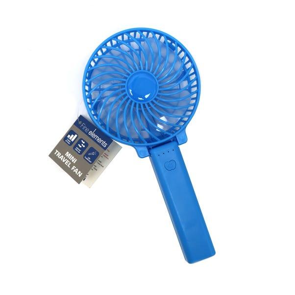 Blue Mini Travel Fan Blue