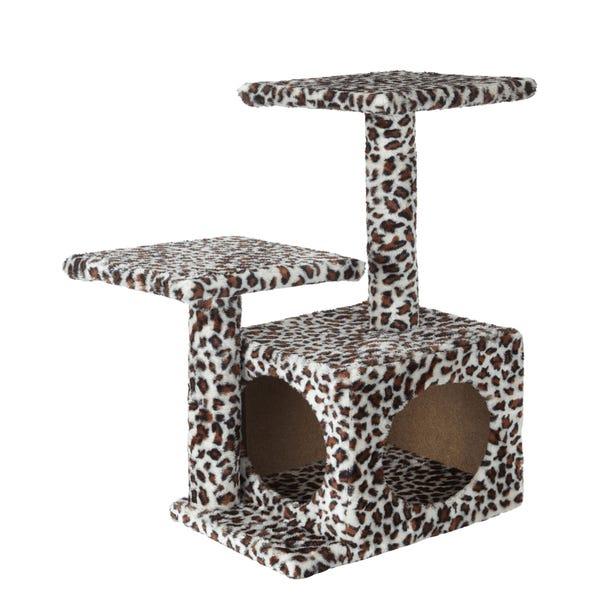 Bunty Leopard Print Cat Playhouse MultiColoured