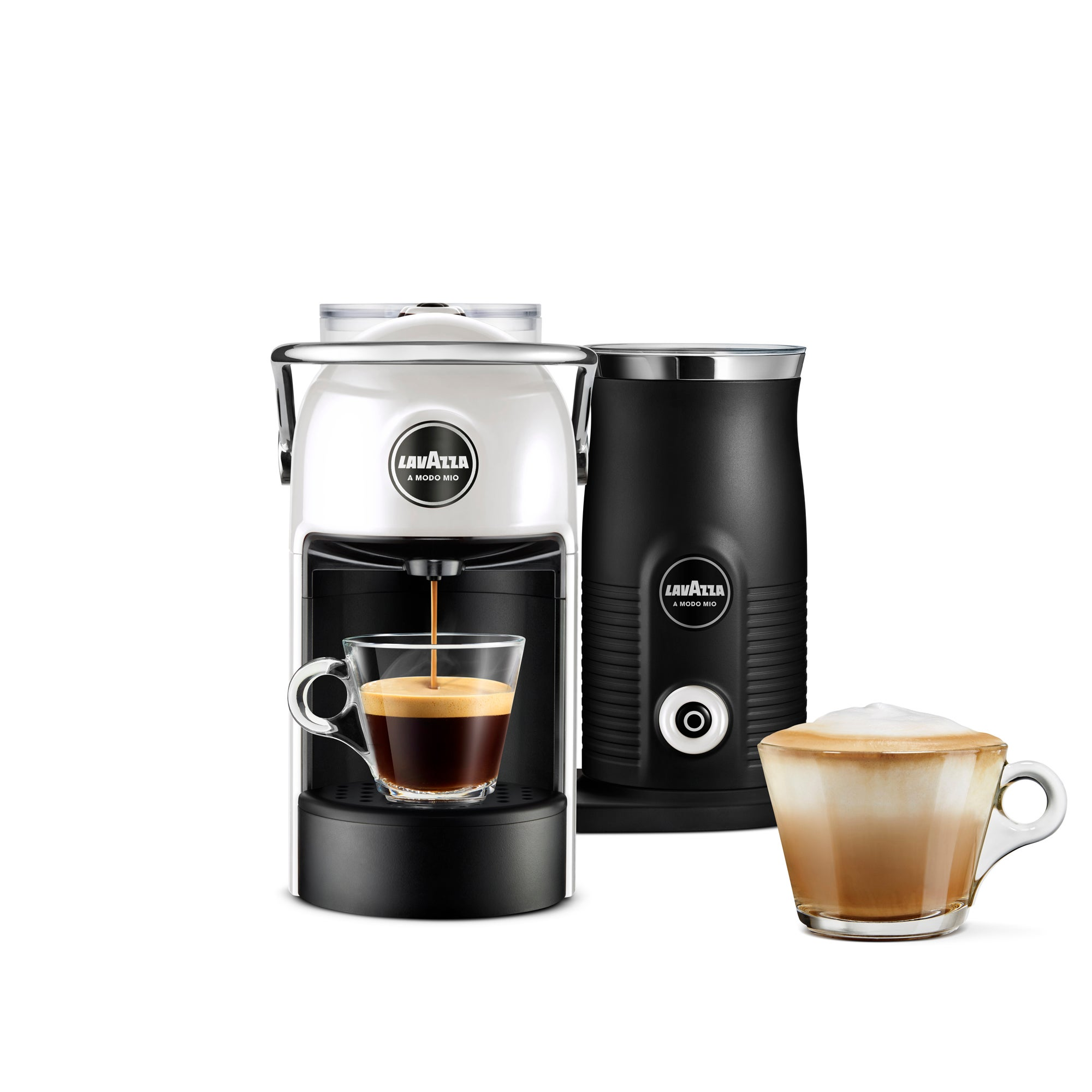 Click to view product details and reviews for Lavazza Coffee Lavazza Jolie And Milk White Coffee Machine White And Black.