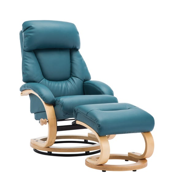 Livia Swivel Recliner Chair And Footstool