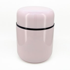 Blush Pink Vacuum Insulated 350ml Food Flask