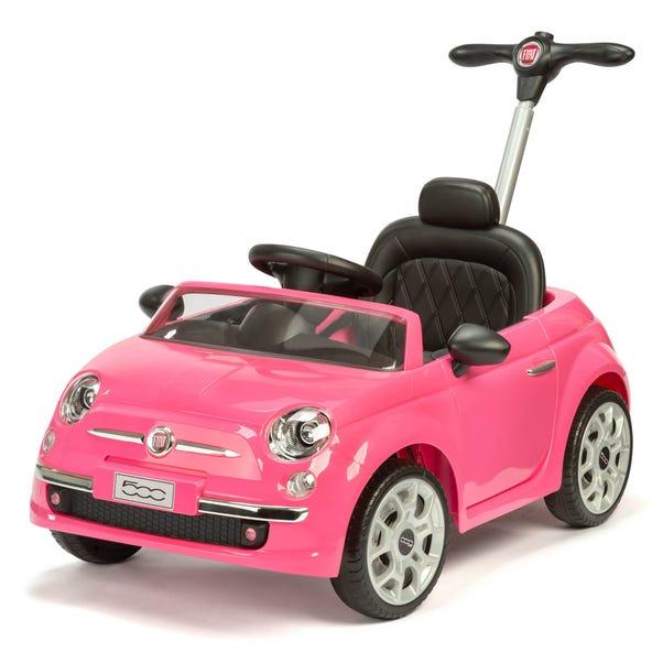 Fiat 500 Pink Push Ride On Car Pink