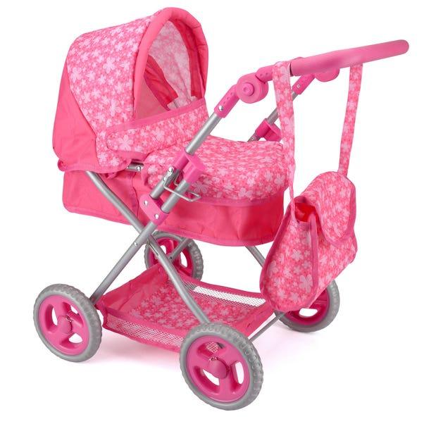 Snuggles Pink Deluxe Doll Pram Pink