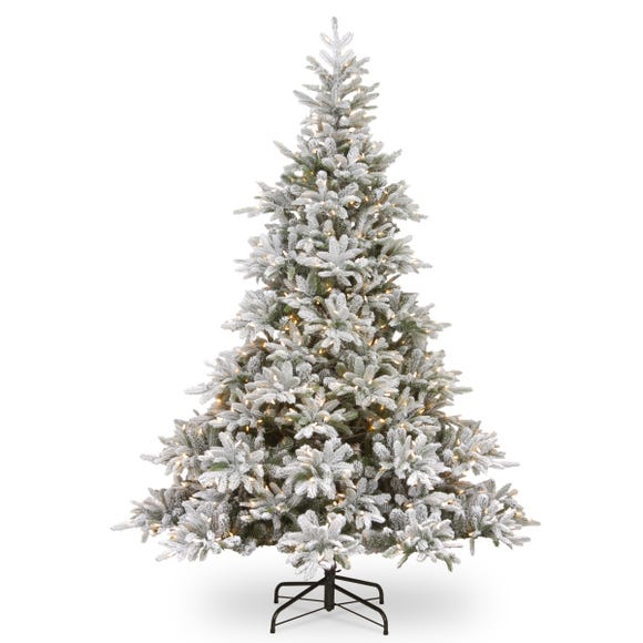 6ft Pre-Lit Frosted Andorra Fir Christmas Tree White