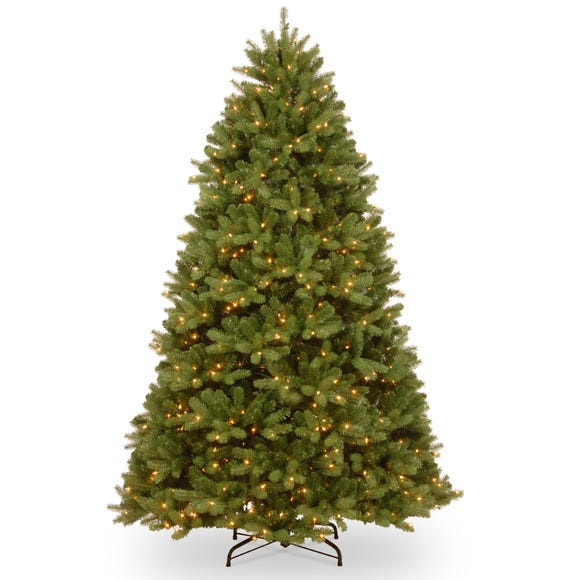 7ft Pre-Lit Feel Real Newberry Christmas Tree Green