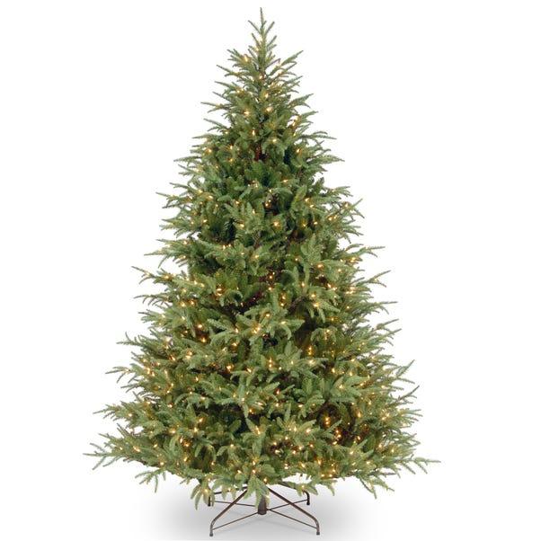 7ft Pre-Lit Frasier Hinged Christmas Tree Green