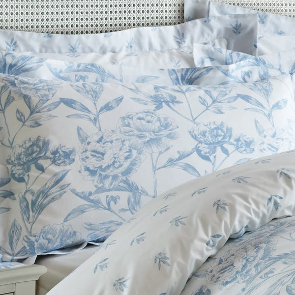 Holly Willoughby Etta Blue Oxford Pillowcase Blue