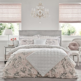 Holly Willoughby Tamsin Pink 100% Cotton Reversible Duvet Cover and Pillowcase Set