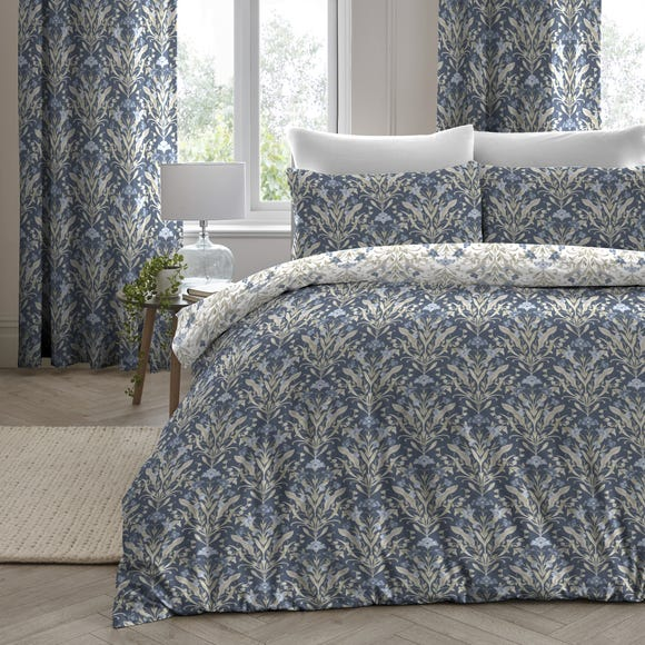 Venito Blue Duvet Cover and Pillowcase Set Blue undefined