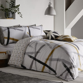 Appletree Leda Abstract Print Reversible 100% Cotton Duvet Cover and Pillowcase Set
