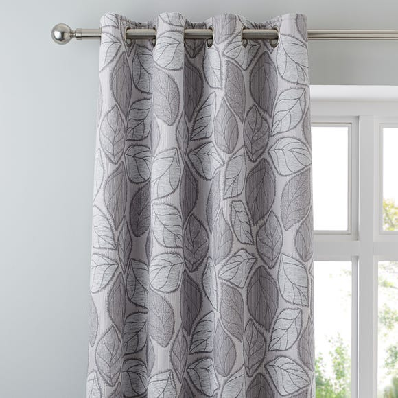 Sherwood Silver Eyelet Curtains Silver undefined