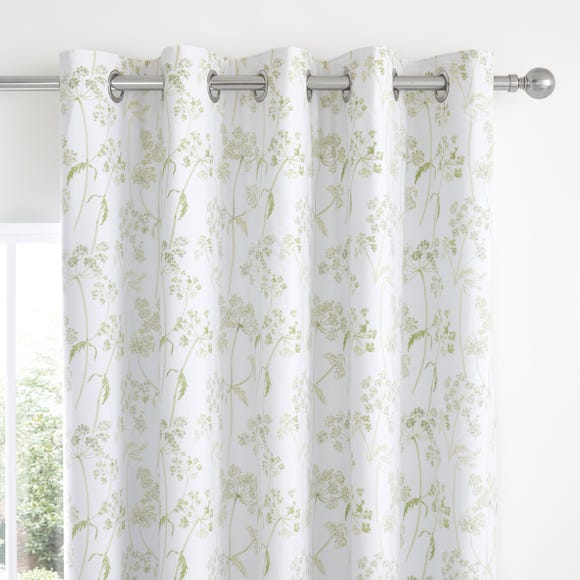 Felicity White Floral Blackout Eyelet Curtains  undefined