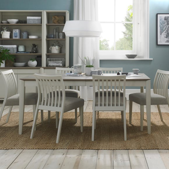 Bergen 6-8 Seater Extendable Dining Table Grey