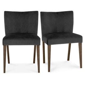 Turin Set of 2 Dining Chairs Velvet