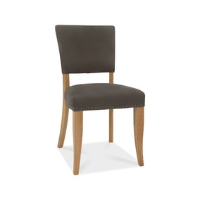 Indus Set of 2 Dining Chairs Charcoal Fabric