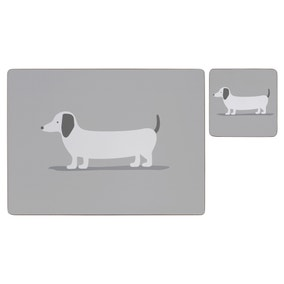 Pack of 4 Bertie Sausage Dog Placemats and Coasters