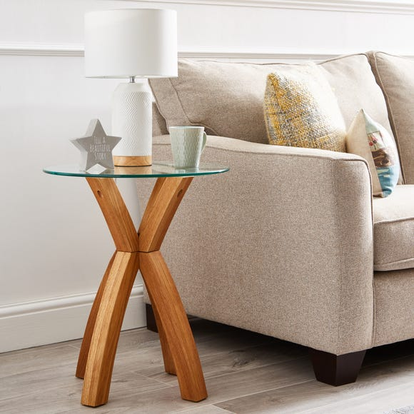 Xavi Side Table Oak (Brown)