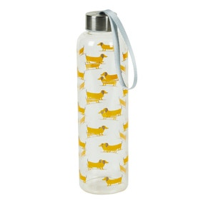 Bertie Sausage Dog 700ml Glass Water Bottle