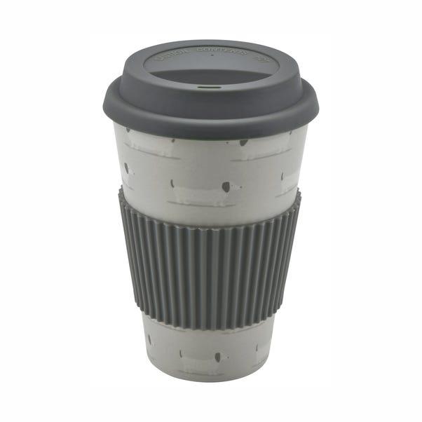 Bertie Sausage Dog 475ml Bamboo Travel Mug Grey