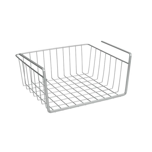 Metaltex 30cm Under Shelf Storage Basket Silver