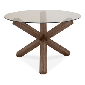 Turin Glass Top Round Table