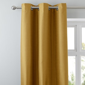 Nova Old Gold Blackout Eyelet Curtains