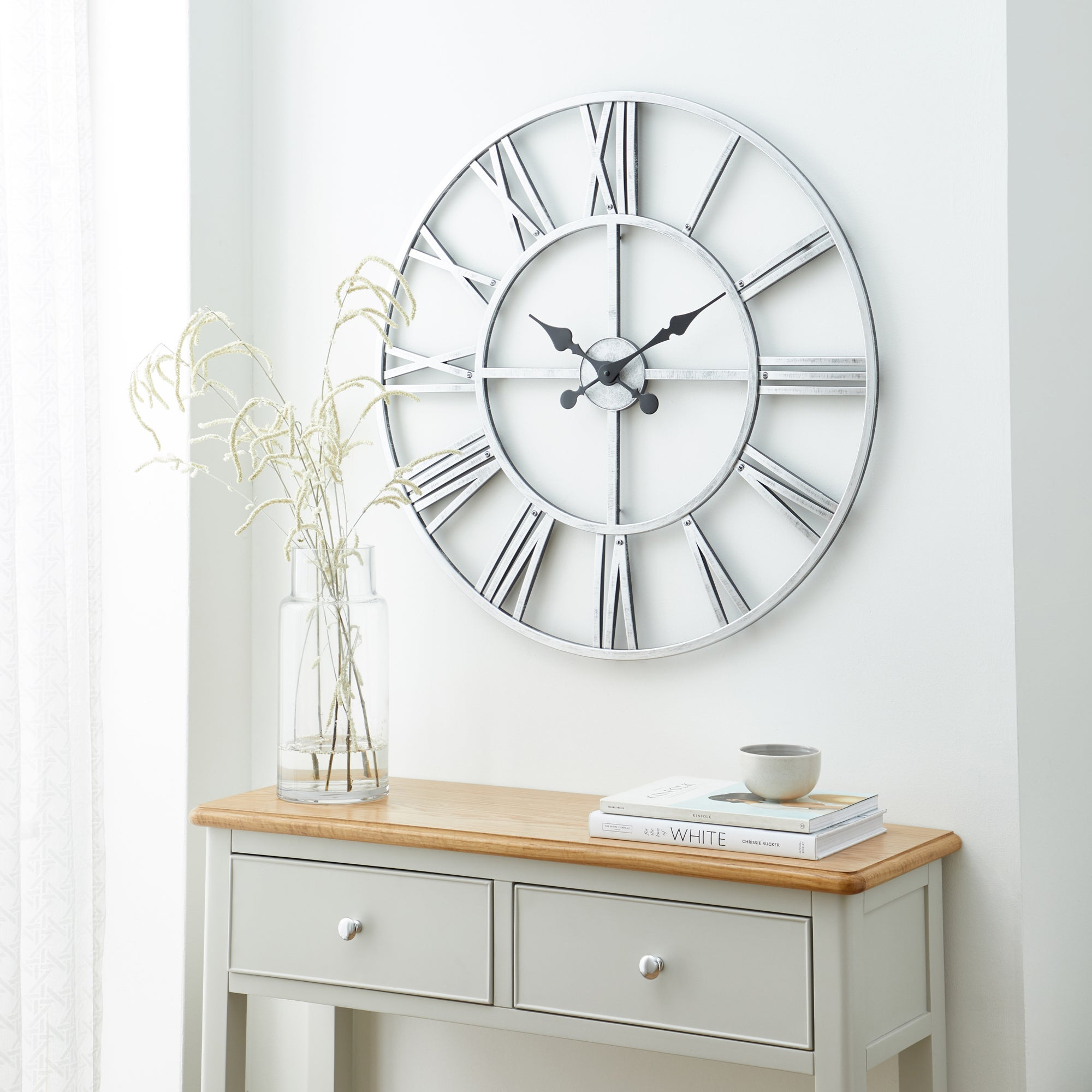 Click to view product details and reviews for Silver Skeleton Clock Silver.