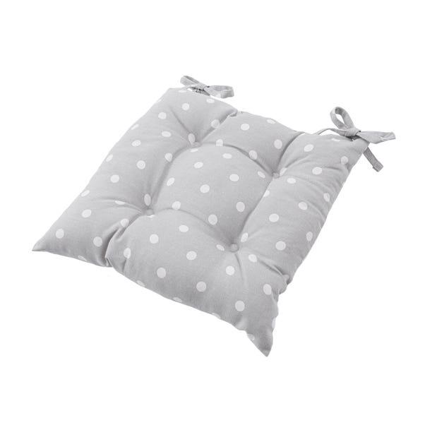 Dotty Grey Seat Pad Grey