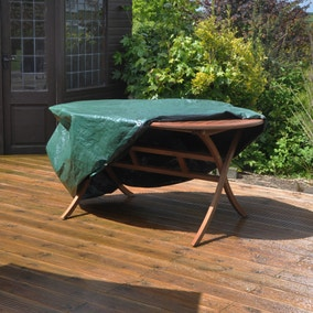 Kingfisher Oval Green Patio Set Cover Large
