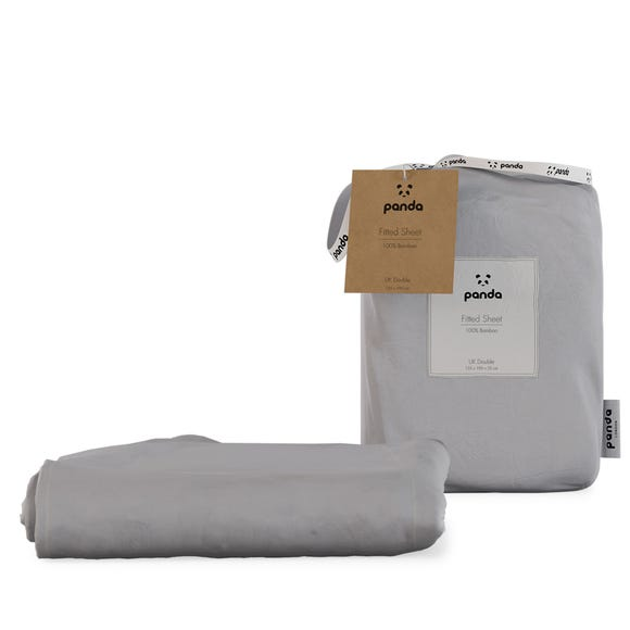 Panda Bamboo Quiet Grey Fitted Sheet  undefined