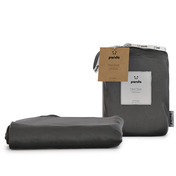 Panda Bamboo Urban Grey Fitted Sheet  undefined