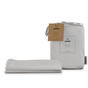 Panda Bamboo White Pillowcase Pair